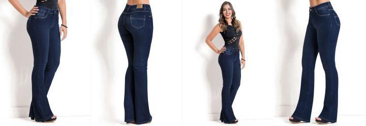 0.19995592534542084 Calça Jeans Sawary Azul Modelo Flare 9433f25f1e4