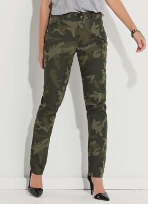 b432e2a5d Calça Quintess Verde Camuflada Estilo Militar