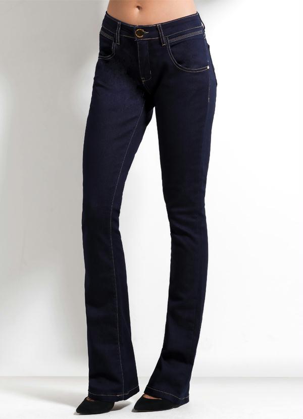 88072b1d59f0b Multimarcas - Calça Flare Ana Hickmann Jeans Escuro - Multimarcas