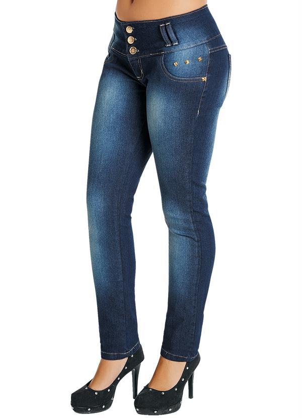 240257cba Multimarcas - Calça Azul Jeans Feminina Cintura Média - Multimarcas