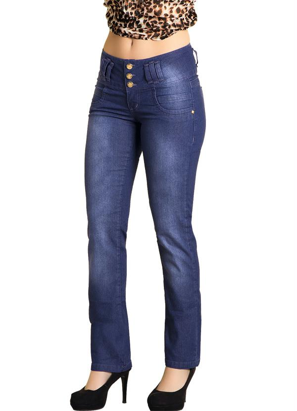 98799a72e4 Janine - Calça Jeans Reta Azul Escuro - Multimarcas