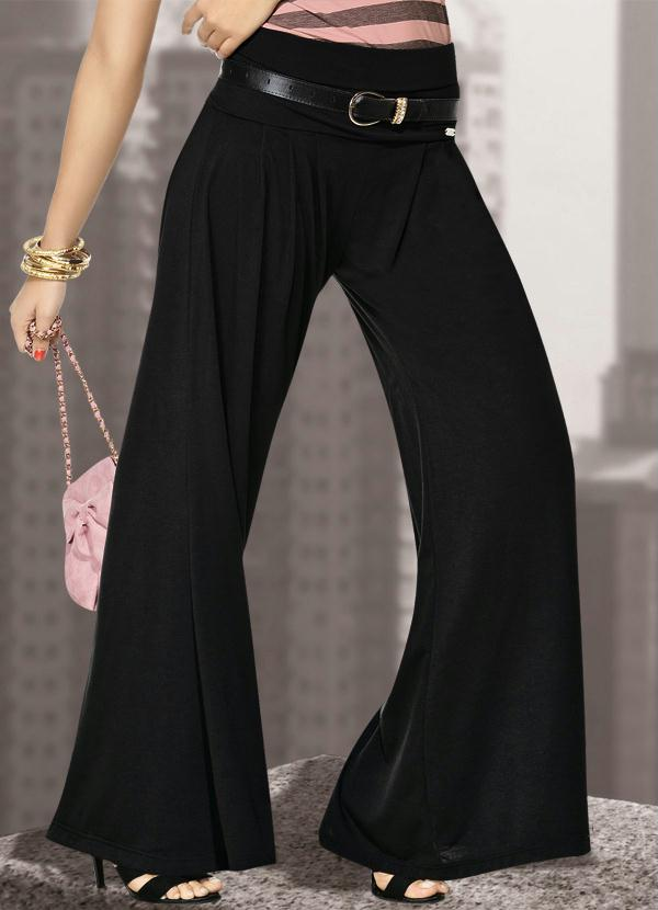 8acf17768 Quintess - Calça Pantalona Preta - Quintess