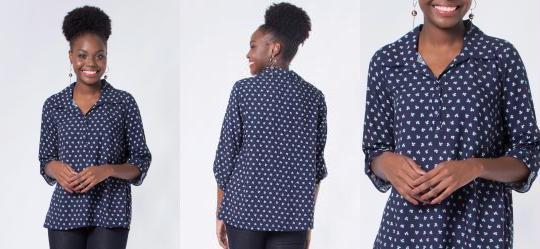 Camisa Minimalista Azul Mercatto