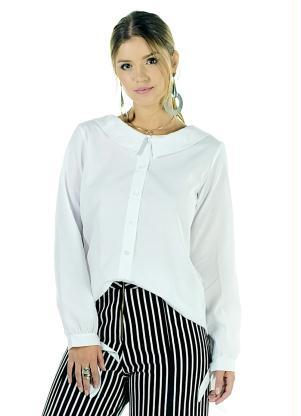 produto Quintess Outlet - Camisa Branca com Gola Diferenciada Quintess f6a020cfafed8