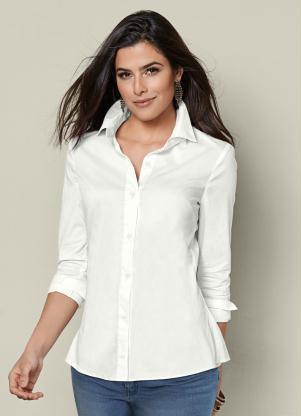 b1df7e3cb9 bonprix - Camisa Social de Botões Branca