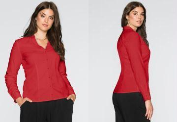 Camisa com Stretch Vermelho