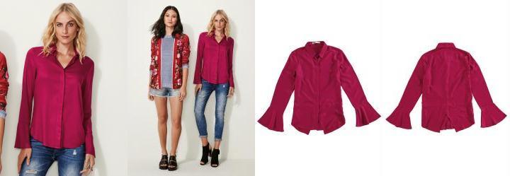 Camisa Feminina Vermelho Malwee