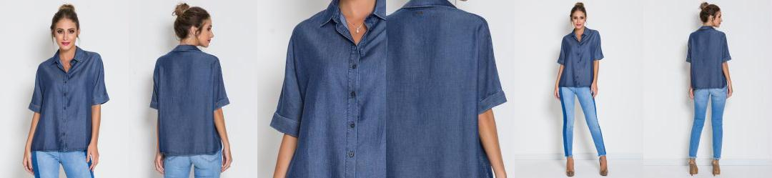 Camisa Jeans Colcci