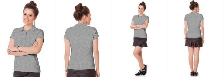 Camisa Polo Cinza Fakini Woman Every Day