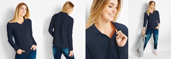 Camisa Pólo em Malha Piquê Azul Escuro
