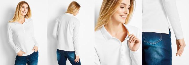 Camisa Pólo em Malha Piquê Branco