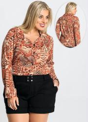 Camisa Estampa Tigre Plus Size