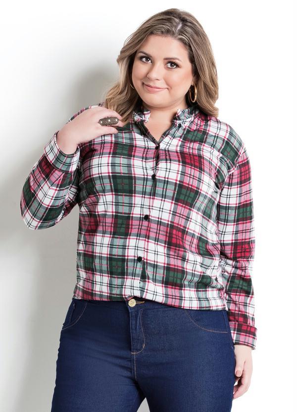 0d99f7b263 Marguerite - Camisa Manga Longa Xadrez Plus Size - Marguerite
