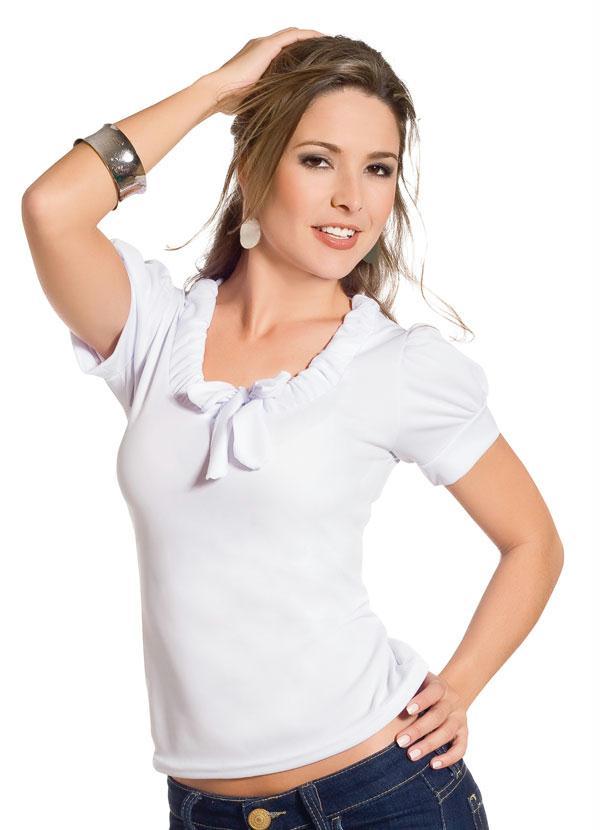 6ebbb39c408 Queima estoque - Blusa em Helanca Branca