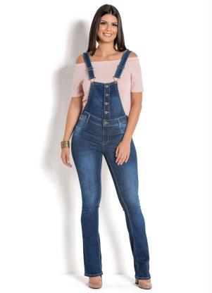 333be1fd9 Jardineira Sawary com Botões Jeans