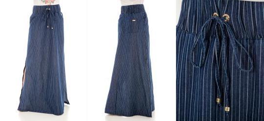 Saia Longa Jeans Via Tolentino