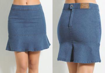 36c2aa128 Multimarcas. 0.5457730889320374 Saia Jeans Peplum Azul Claro