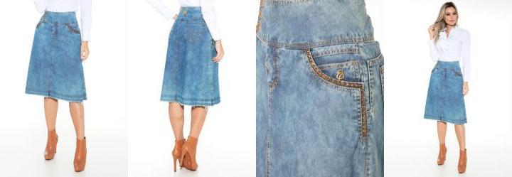 Saia Jeans Via Tolentino