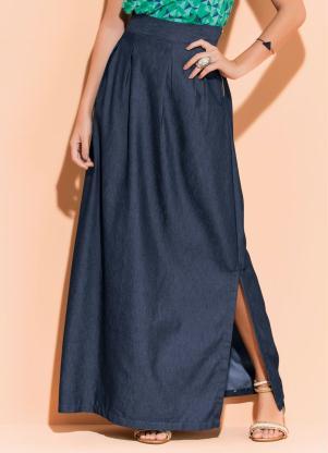 0de9e630f9 produto Quintess - Saia Longa Jeans