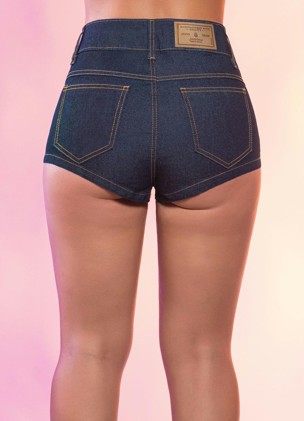 short jeans azul escuro hot pants posthaus. Black Bedroom Furniture Sets. Home Design Ideas
