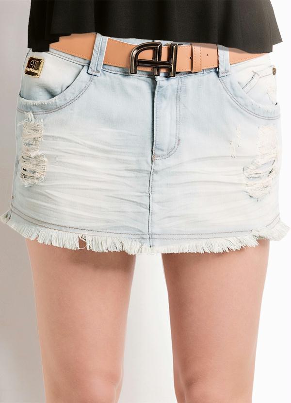 0c695b6c7a Ah - Short Saia Jeans Barra Desfiada Ana Hickmann - Multimarcas