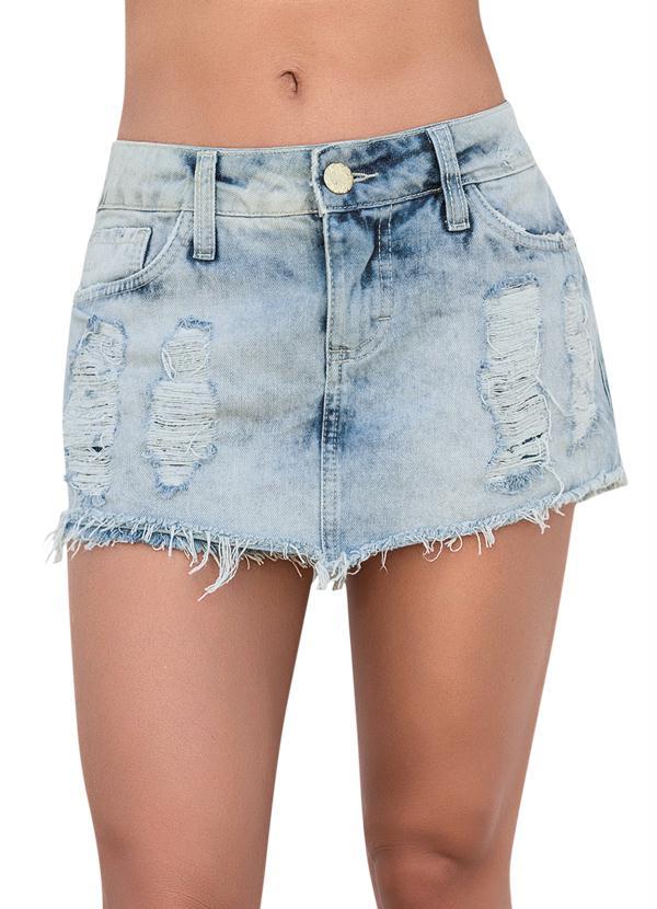 Short Saia Jeans Claro - Posthaus