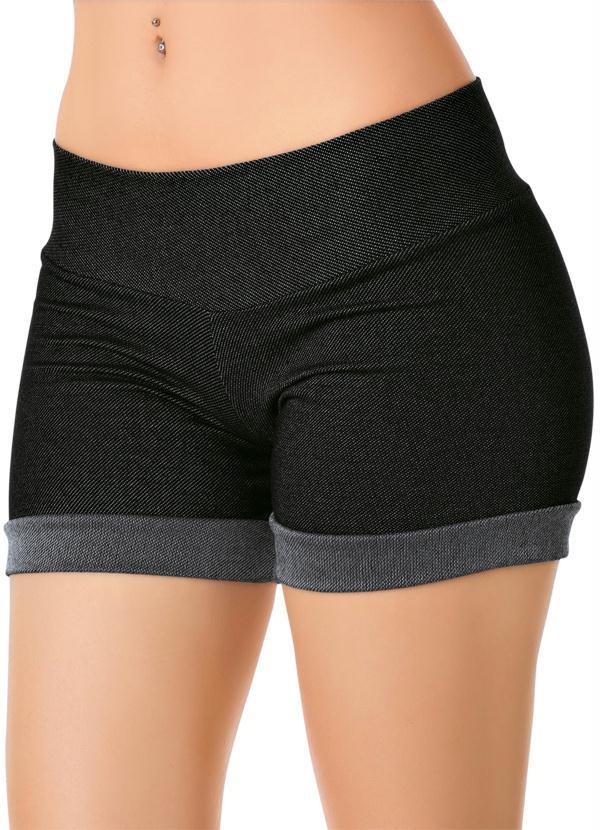 Short em Cotton Jeans Escuro - Posthaus