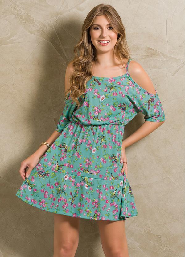 08c9e3760 Moda pop - Vestido Floral Ciganinha com Babado na Barra - Moda Pop