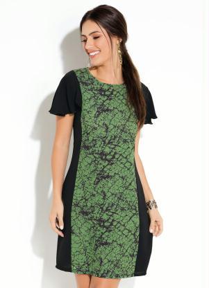 208c05a84 produto Quintess - Vestido Quintess Curto Marmorizado Verde