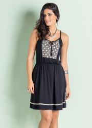 Vestido Miss Masy Preto com Amarração