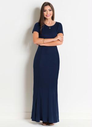 b1d3cd748 produto Rosalie - Vestido Longo Marinho Moda Evangélica