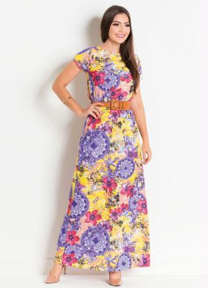 9d4065b6b8 produto Vestido Longo Floral e Mandala Moda Evangélica