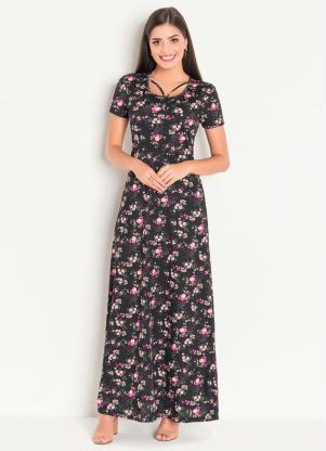 3c65105da2 produto Vestido Longo Moda Evangélica Floral Dark