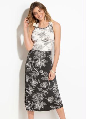 d8911eb166 produto Vestido Quintess Floral com Transpasse Costas