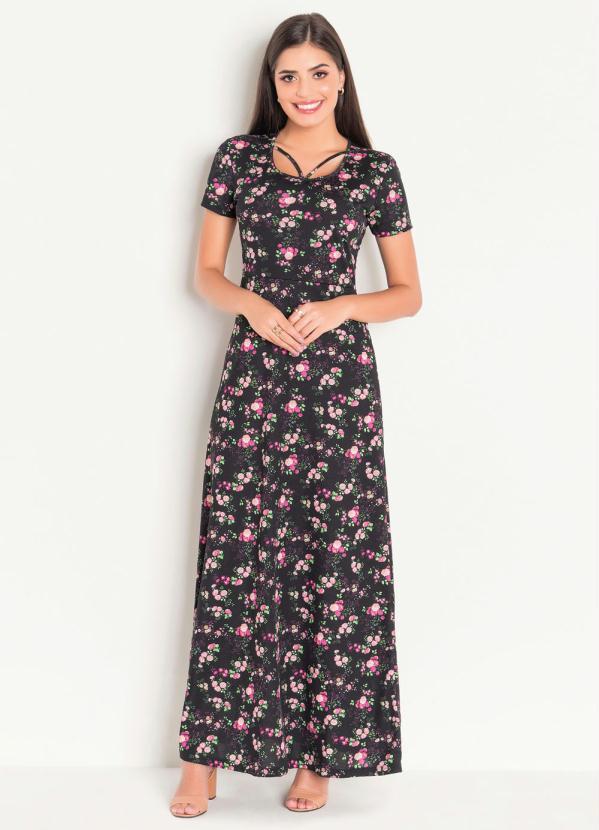 b69b77ff9e Rosalie - Vestido Longo Arabescos Moda Evangélica - Rosalie