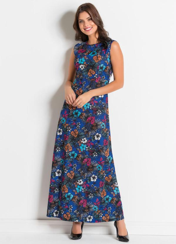 69d5bfed0 Rosalie - Vestido Longo Floral Dark Moda Evangélica - Rosalie