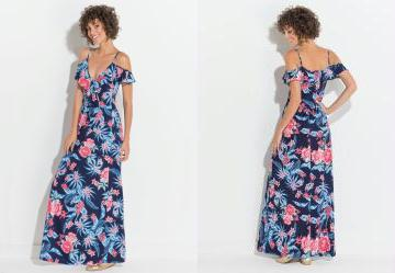 bc339cdac 0.6758641600608826 Vestido Quintess Floral Transpasse no Decote