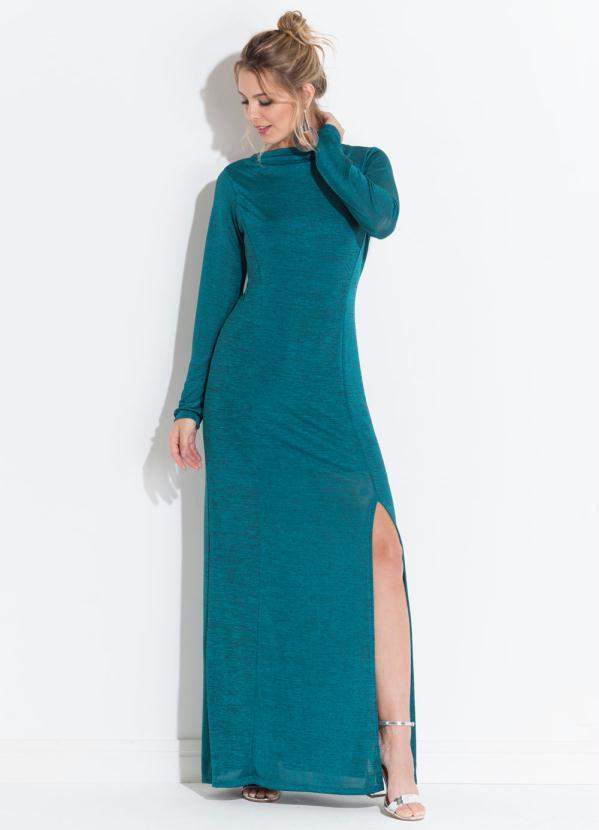 6679af133 Quintess - Vestido Quintess Verde Decote Costas Profundo - Quintess