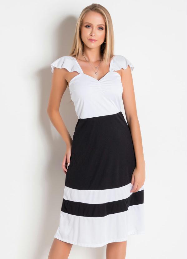 0479aaa05 Regata Feminina Branca Detalhe Botes Posthaus Denise vestidos