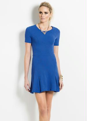 Vestido Colcci Azul Texturizado