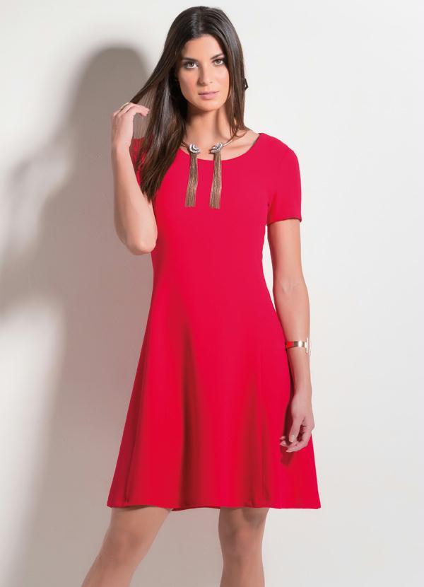 2329d60440 Mink - Vestido Evasê Vermelho - Mink