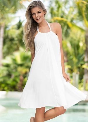 Vestido Saída De Praia Branco