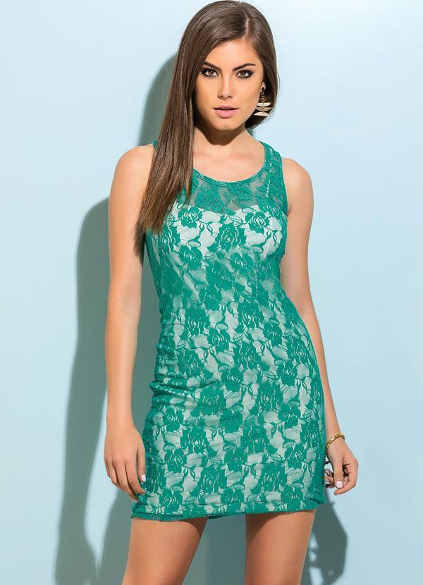Vestido de festa na cor verde agua