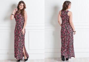 Vestido longo casual feminino