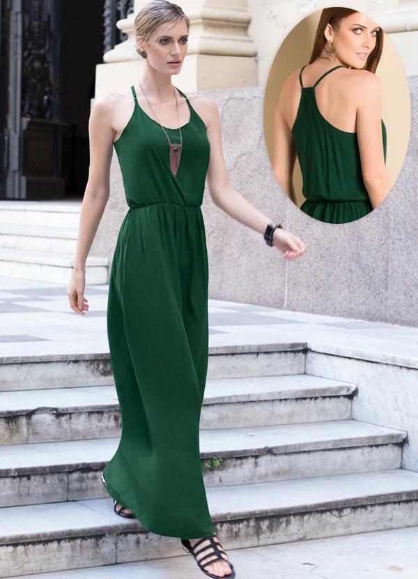 Vestidos de viscose verde