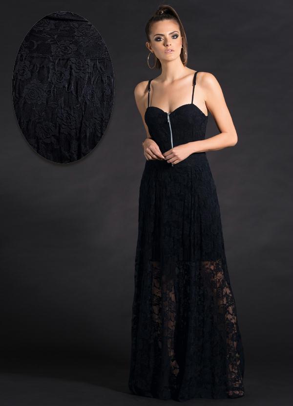 Vestido longo preto 2018