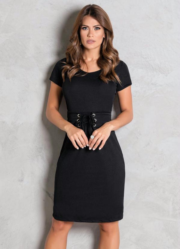 Vestido de renda preto evangelico