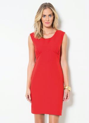 Vestido Tubinho Mink Vermelho