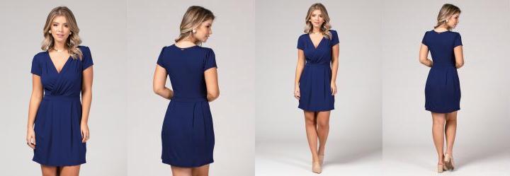 Vestido azul royal curto gg