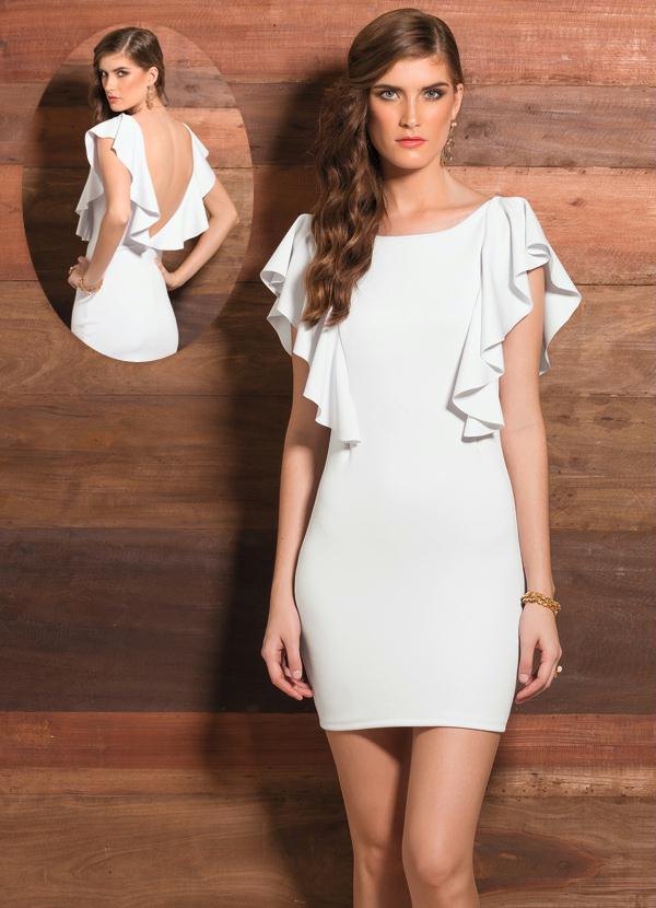 Fotos de vestidos curtos com decote nas costas